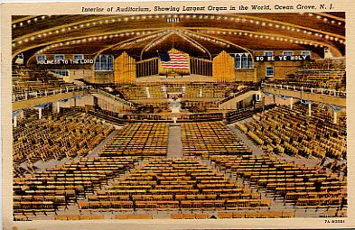 Ocean Grove, Great Auditorium, Interior, 1939.