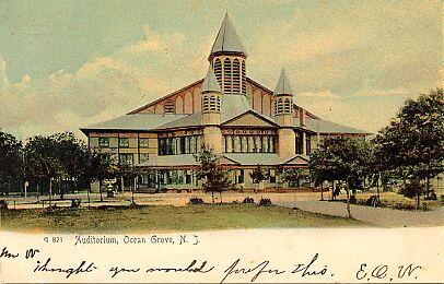 Ocean Grove, Great Auditorium, 1906.