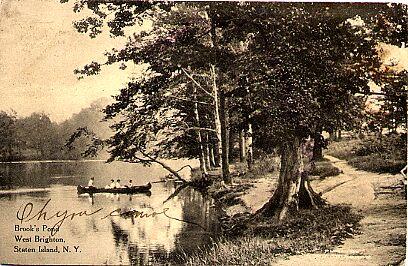 Brook's Pond, West Brighton, 1911.