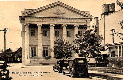 Masonic Temple, Port Richmond, Circa 1920.