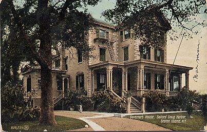 Sailors Snug Harbor, Governor's House, 1907