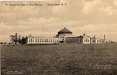 Sailor's Snug Harbor, New Brighton, Sanatorium, 1914